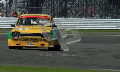 © Carl Jones / Octane Photographic Ltd. Silverstone Classic. Fujifilm Touring Car Trophy 1970-2000. 22nd July 2012. Michael Bell, Ford Escort. Digital Ref : 0415CJ7D1765