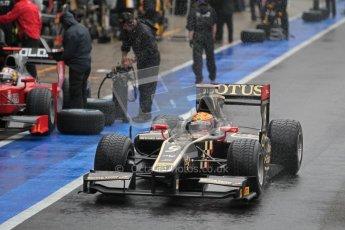 © 2012 Octane Photographic Ltd. British GP Silverstone - Friday 6th July 2012 - GP2 Qualifying - Lotus GP - James Calado. Digital Ref : 0399lw1d3081