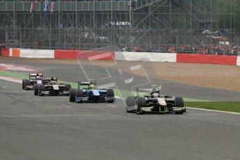© 2012 Octane Photographic Ltd. British GP Silverstone - Sunday 8th July 2012 - GP2 Race 2 - Caterham Racing - Giedo van der Garde heads his part of thr pack. Digital Ref : 0401lw7d7205