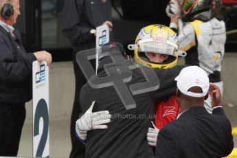 © 2012 Octane Photographic Ltd. British GP Silverstone - Sunday 8th July 2012 - GP2 Race 2 - Arden International - Luiz Razia gets well deserved congratulations. Digital Ref : 0401lw7d7556