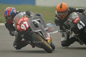 © Octane Photographic Ltd. Thundersport – Donington Park - 24th March 2012. Aprillia Superteens, Bradley Perie and Milo Ward. Digital ref : 0252cb7d1451