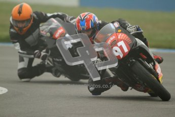 © Octane Photographic Ltd. Thundersport – Donington Park - 24th March 2012. Aprillia Superteens, Bradley Perie and Milo Ward. Digital ref : 0252cb7d1505