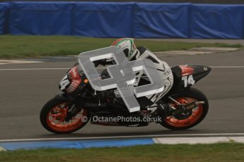 © Octane Photographic Ltd. Thundersport – Donington Park - 24th March 2012. Aprillia Superteens, Joe Thompson. Digital ref : 0252lw7d0197
