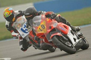© Octane Photographic Ltd. Thundersport – Donington Park - 24th March 2012. Doodson Motorsport Supertwins & F400, Steve Ferguson and Dave Taylor. Digital ref : 0254cb7d1880