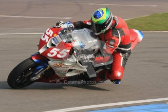 © Octane Photographic Ltd. Thundersport – Donington Park -  24th March 2012. Morello Services Thundersport GP1 / Superstock 1000, Donald MacFadyen. Digital ref : 0258lw7d2468