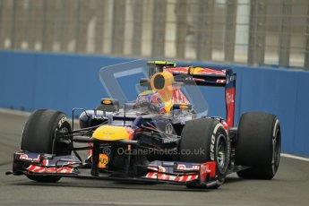 © 2012 Octane Photographic Ltd. European GP Valencia - Friday 22nd June 2012 - F1 Practice 1. Red Bull RB8 - Mark Webber. Digital Ref : 0367lw1d2913