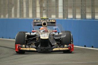 © 2012 Octane Photographic Ltd. European GP Valencia - Friday 22nd June 2012 - F1 Practice 1. Lotus E20 - Romain Grosjean. Digital Ref : 0367lw1d2977
