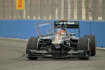 © 2012 Octane Photographic Ltd. European GP Valencia - Friday 22nd June 2012 - F1 Practice 1. Caterham CT01 - Heikki Kovalainen. Digital Ref : 0367lw1d3026