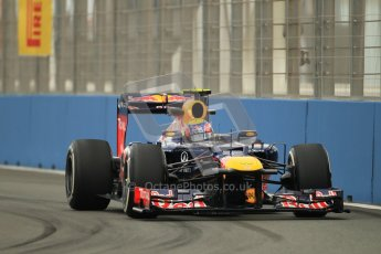 © 2012 Octane Photographic Ltd. European GP Valencia - Friday 22nd June 2012 - F1 Practice 1. Red Bull RB8 - Mark Webber. Digital Ref : 0367lw1d3039