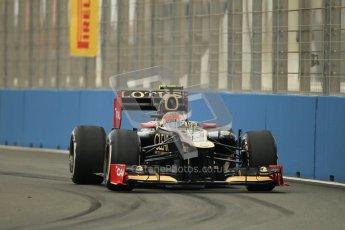 © 2012 Octane Photographic Ltd. European GP Valencia - Friday 22nd June 2012 - F1 Practice 1. Lotus E20 - Romain Grosjean. Digital Ref : 0367lw1d3045