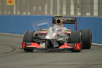 © 2012 Octane Photographic Ltd. European GP Valencia - Friday 22nd June 2012 - F1 Practice 1. HRT F112 - Narain Karthikeyan. Digital Ref : 0367lw1d3055