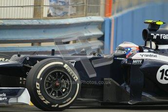 © 2012 Octane Photographic Ltd. European GP Valencia - Friday 22nd June 2012 - F1 Practice 1. Williams FW34 - Valtteri Bottas. Digital Ref : 0367lw1d3071