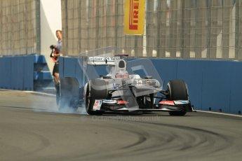 © 2012 Octane Photographic Ltd. European GP Valencia - Friday 22nd June 2012 - F1 Practice 1. Sauber C31 - Kamui Kobayashi. Digital Ref : 0367lw1d3181