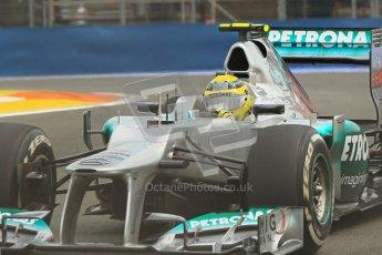 © 2012 Octane Photographic Ltd. European GP Valencia - Friday 22nd June 2012 - F1 Practice 1. Mercedes W03 - Nico Rosberg. Digital Ref : 0367lw1d3284