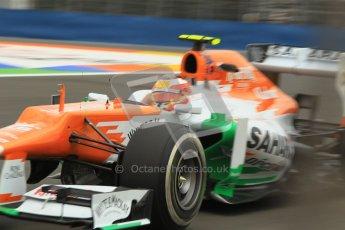 © 2012 Octane Photographic Ltd. European GP Valencia - Friday 22nd June 2012 - F1 Practice 1. Force India VJM05 - Jules Bianchi. Digital Ref : 0367lw1d3298