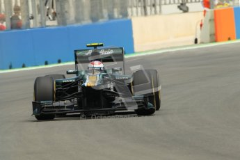 © 2012 Octane Photographic Ltd. European GP Valencia - Friday 22nd June 2012 - F1 Practice 2. Caterham CT01 - Vitaly Petrov. Digital Ref : 0368lw1d3744