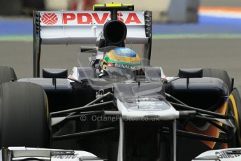 © 2012 Octane Photographic Ltd. European GP Valencia - Friday 22nd June 2012 - F1 Practice 2. Williams FW34 - Bruno Senna. Digital Ref : 0368lw1d4021