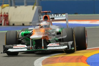 © 2012 Octane Photographic Ltd. European GP Valencia - Friday 22nd June 2012 - F1 Practice 2. Force India VJM05 - Paul di Resta. Digital Ref : 0368lw1d4071