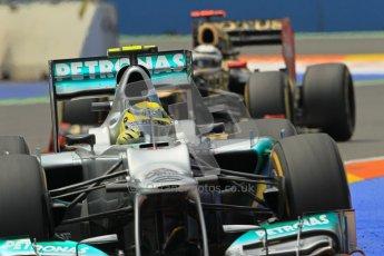 © 2012 Octane Photographic Ltd. European GP Valencia - Friday 22nd June 2012 - F1 Practice 2. Mercedes W03 - Nico Rosberg. Digital Ref : 0368lw1d4179