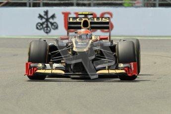© 2012 Octane Photographic Ltd. European GP Valencia - Friday 22nd June 2012 - F1 Practice 2. Lotus E20 - Romain Grosjean. Digital Ref : 0368lw1d4294