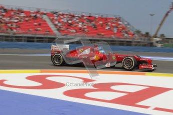 © 2012 Octane Photographic Ltd. European GP Valencia - Friday 22nd June 2012 - F1 Practice 2. Ferrari F2012 - Fernando Alonso. Digital Ref : 0368lw7d0588