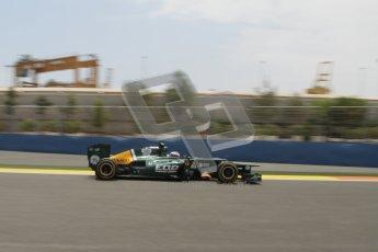 © 2012 Octane Photographic Ltd. European GP Valencia - Friday 22nd June 2012 - F1 Practice 2. Caterham CT01 - Vitaly Petrov. Digital Ref : 0368lw7d0705