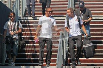 © 2012 Octane Photographic Ltd. European GP Valencia - Sunday 24th June 2012 - F1 Paddock. McLaren - Lewis Hamilton. Digital Ref : 0373lw1d5981