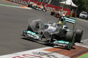 © 2012 Octane Photographic Ltd. European GP Valencia - Saturday 23rd June 2012 - F1 Qualifying. Mercedes W03 - Nico Rosberg. Digital Ref : 0370lw7d1704