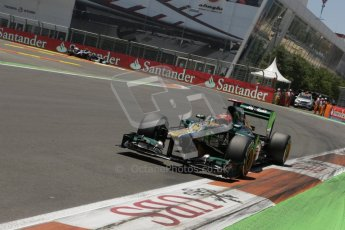 © 2012 Octane Photographic Ltd. European GP Valencia - Saturday 23rd June 2012 - F1 Qualifying. Caterham CT01 - Heikki Kovalainen. Digital Ref : 0370lw7d1778