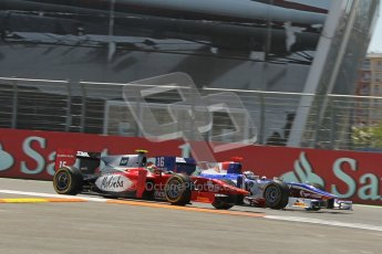 © 2012 Octane Photographic Ltd. European GP Valencia - Saturday 23rd June 2012 - GP2 Race 1 - Scuderia Coloni - Fabio Onidi and Trident Racing - Stephane Richelmi. Digital Ref : 0372lw1d5463