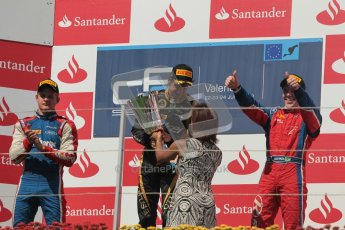 © 2012 Octane Photographic Ltd. European GP Valencia - Saturday 23rd June 2012 - GP2 Race 1. Podium. Esteban Gutierrez, Marcus Ericsson and Luiz Razia. Digital Ref :  0372lw1d5833