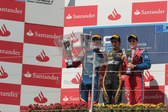© 2012 Octane Photographic Ltd. European GP Valencia - Saturday 23rd June 2012 - GP2 Race 1 Podium. Esteban Gutierrez, Marcus Ericsson and Luiz Razia. Digital Ref :  0372lw1d5866