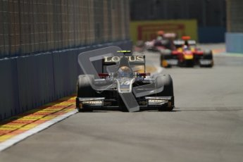 © 2012 Octane Photographic Ltd. European GP Valencia - Saturday 23rd June 2012 - GP2 Race 1 - Lotus GP - Esteban Gutierrez. Digital Ref : 0372lw7d2210