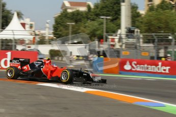 © 2012 Octane Photographic Ltd. European GP Valencia - Saturday 23rd June 2012 - F1 Practice 3. Marussia MR01 - Charles Pic. Digital Ref : 0371lw1d4762