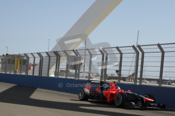 © 2012 Octane Photographic Ltd. European GP Valencia - Saturday 23rd June 2012 - F1 Practice 3. Marussia MR01 - Charles Pic. Digital Ref : 0371lw7d1199