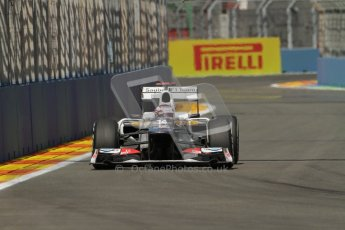 © 2012 Octane Photographic Ltd. European GP Valencia - Saturday 23rd June 2012 - F1 Practice 3. Sauber C31 - Kamui Kobayashi. Digital Ref : 0371lw7d1505