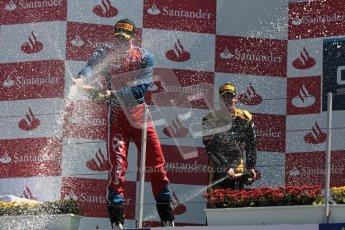 © 2012 Octane Photographic Ltd. European GP Valencia - Sunday 24th June 2012 - GP2 Race 2 Podium - Luiz Razia - Arden International. Digital Ref : 0375lw1d6680