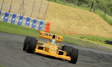 © Jones Photography 2012. 2nd June 2012 - Steve Griffiths, 1989 Lotus 101, Pembrey, Welsh Motorsport Festival. Digital Ref : 0366CJ0979