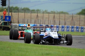 © Jones Photography 2012. 2nd June 2012 - Rupert Svendsen-Cook, Double R Formula 3, 2012 Dallara, John Reaks, 1990 Benetton B190, Pembrey, Welsh Motorsport Festival. Digital Ref : 0366CJ2160