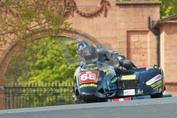 © Octane Photographic Ltd. Wirral 100, 28th April 2012. ACU/FSRA British F2 Sidecars Championship. Race. Mark Saunders/Simon Briggs - Windle Suzuki. Digital ref : 0310cb1d5420