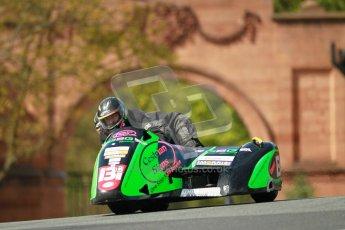 © Octane Photographic Ltd. Wirral 100, 28th April 2012. ACU/FSRA British F2 Sidecars Championship. Paul Bateman/Neil Gregory - Windle Suzuki. Race. Digital ref : 0310cb1d5457