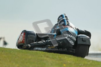 © Octane Photographic Ltd. Wirral 100, 28th April 2012. ACU/FSRA British F2 Sidecars Championship. Dave Atkinson/Phil Knapton - LCR Suzuki. Race. Digital ref : 0310cb1d5498