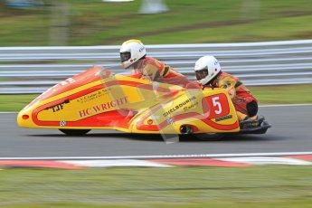 © Octane Photographic Ltd. Wirral 100, 28th April 2012. ACU/FSRA British F2 Sidecars Championship. Carl Fenwick/Mark Sayers - Shelbourne Honda. Race. Digital ref : 0310cb7d9150