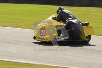 © Octane Photographic Ltd. Wirral 100, 28th April 2012. ACU/FSRA British F2 Sidecars Championship. John Saunders/Shaun Parker - Shelbourne Honda. Race. Digital ref : 0310cb7d9162