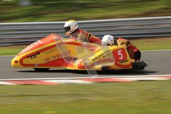 © Octane Photographic Ltd. Wirral 100, 28th April 2012. ACU/FSRA British F2 Sidecars Championship. Carl Fenwick/Mark Sayers - Shelbourne Honda. Race. Digital ref : 0310cb7d9180