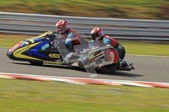 © Octane Photographic Ltd. Wirral 100, 28th April 2012. ACU/FSRA British F2 Sidecars Championship. Tony Baker/Mike Killingsworth - Shelbourne Honda. Race. Digital ref : 0310cb7d9193