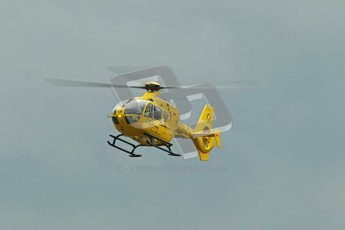 © Octane Photographic Ltd. Wirral 100, 28th April 2012. Forgotten era and Pre-Injection. Medical helicopter arrival.  Digital ref : 0309cb1d5370