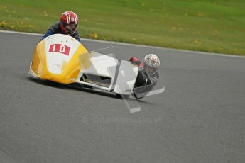 © Octane Photographic Ltd. Wirral 100, 28th April 2012. Sidecars. Free Practice. Jim Stocks/Dave Caulfield. Digital ref : 0308cb1d5125
