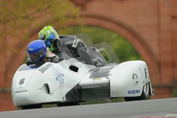 © Octane Photographic Ltd. Wirral 100, 28th April 2012. Sidecars. Qualifying race. Dave Holden/Heath Fairbrother. Digital ref : 0308cb1d5140