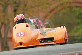 © Octane Photographic Ltd. Wirral 100, 28th April 2012. Sidecars. Qualifying race. Tony Cunliffe/Marton Cunliffe. Digital ref : 0308cb1d5178
